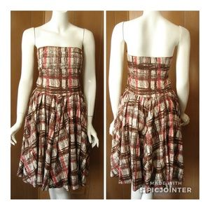 Anthropologie Elevenses Plaid Dress Size 12